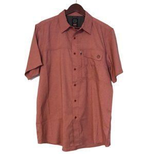 Wrangler Mens Fit Red Button Down Shirt Size Large